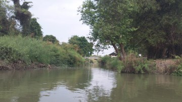 View of the mouth of Khlong Kudi Dao at the confluence with Khlong Kramang