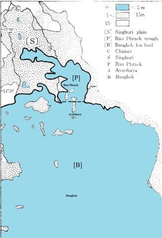 Lopburi Thailand Map.History Of Ayutthaya Geo River Lopburi River