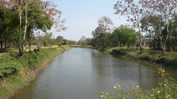 The moat around Mueang U-Taphao