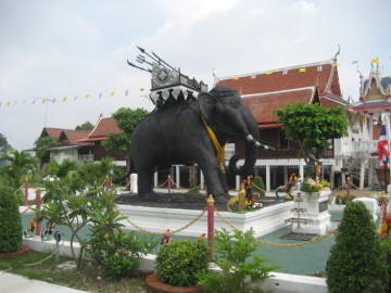 Monument of an elephant with war howdah