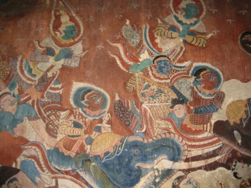 Mural painting inside the ubosot
