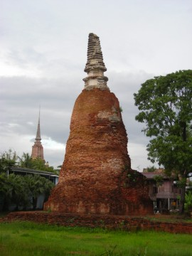 View of the chedi in Ayutthaya style
