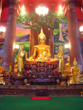 Main Buddha image in the ubosot