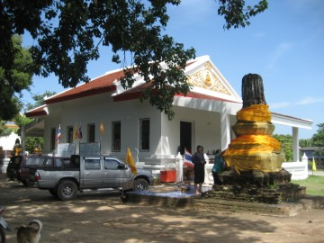 The ordination hall of Wat Klang Khlong Sra Bua