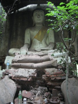 View of the main Buddha image