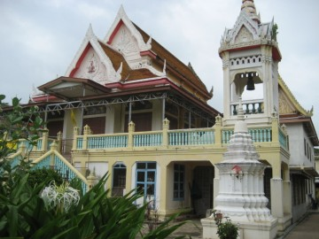 Vihan and bell tower of Wat Monthop