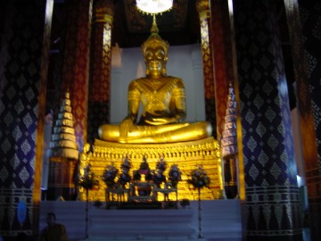 The crowned Buddha in the ubosot