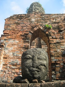 Remnants of a Buddha image at Wat Phra Ram