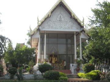 Modern vihara built on the foundations of an older one