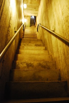 Stairway to the crypt
