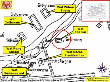 Detail of Phraya Boran Rachathanin's map