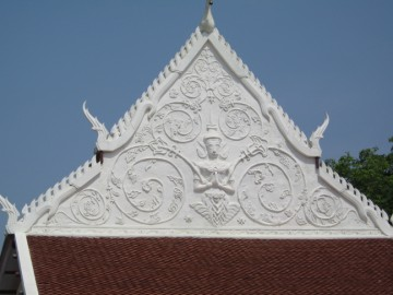 Gable of the ordination hall