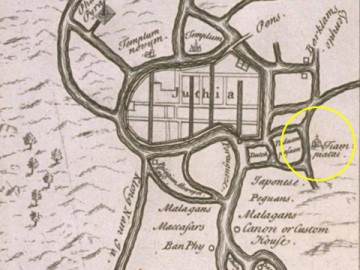 Map of Engelbert Kaempfer - 1690