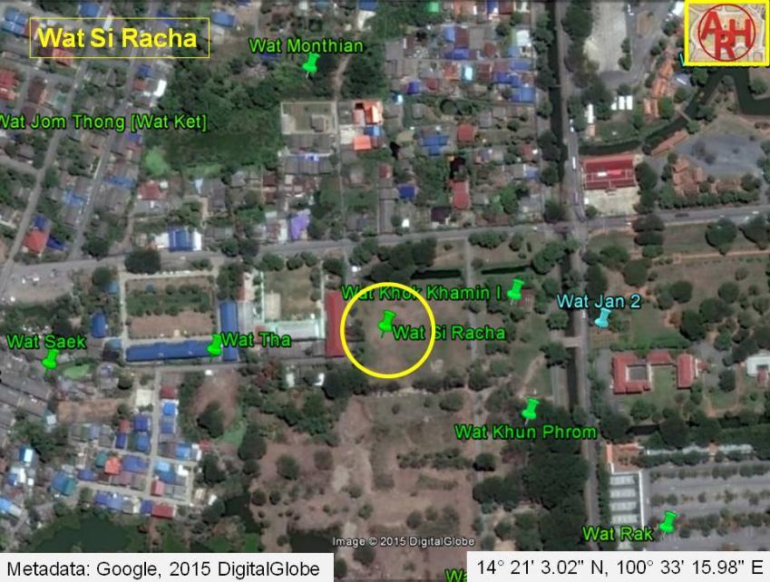 History of Ayutthaya Temples Ruins Wat Si Racha